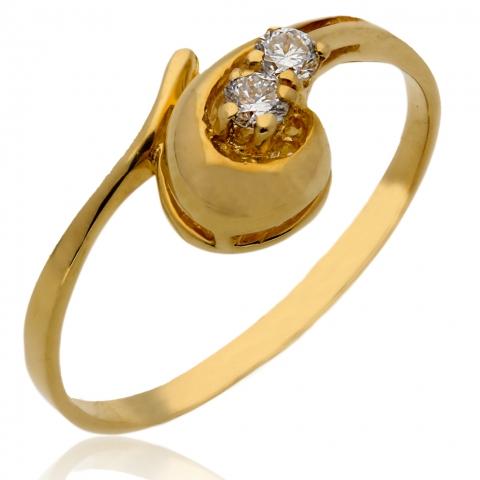 Pierścionek z diamentem - Złoto pr.585