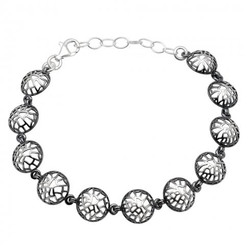 Bransoleta  ze srebra pr.925