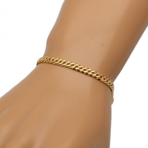 Bransoletka 21 cm ze złota pr.585