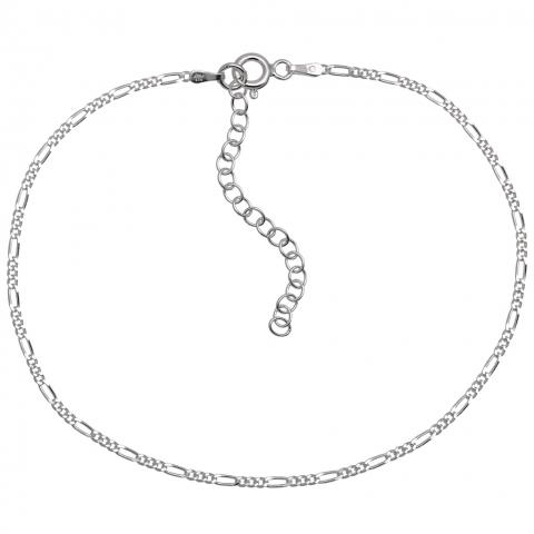 Bransoletka na nogę 22-27 cm ze srebra pr.925