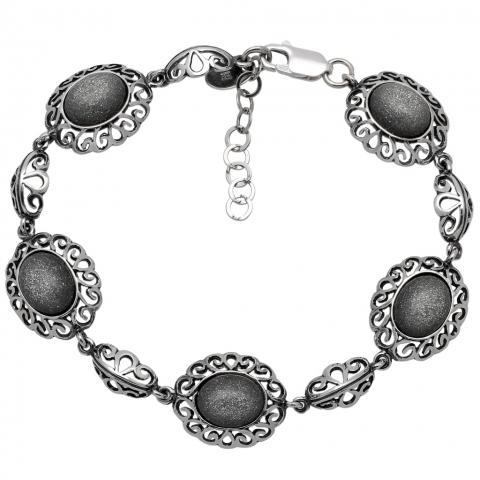 Bransoleta 19-22 cm ze srebra pr.925