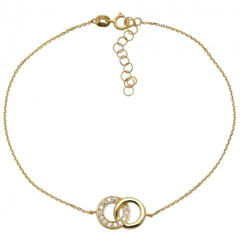 Bransoleta 19-22 cm ze złota pr.585