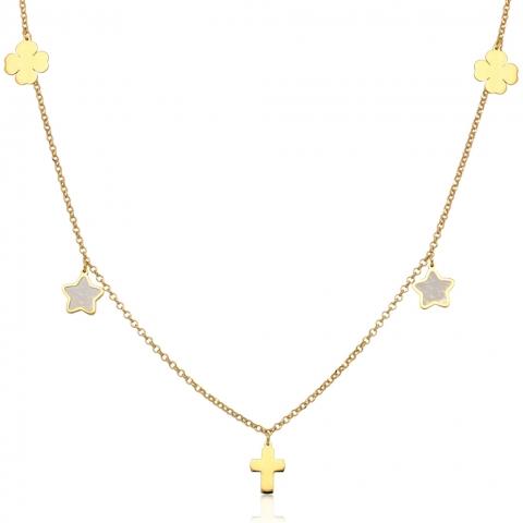 Kolia 45-49 cm ze złota pr.585