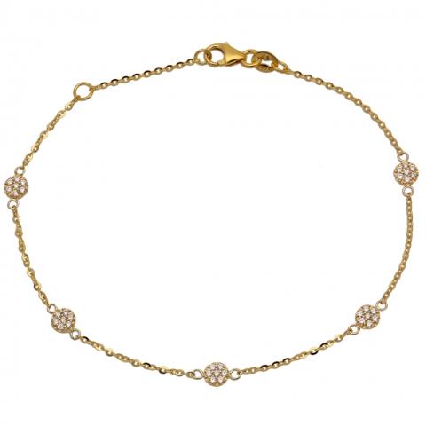 Bransoleta 17-19 cm ze złota pr.585