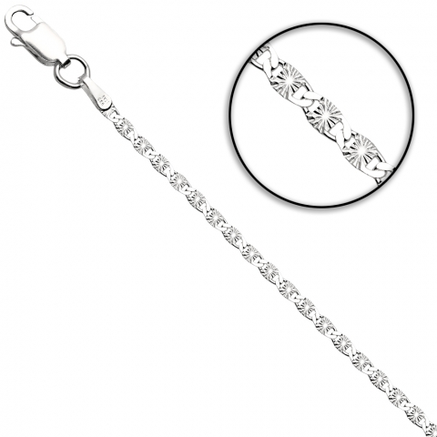 Łańcuch 50 cm ze srebra pr.925
