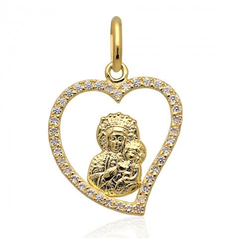 Medalik ze złota pr.585
