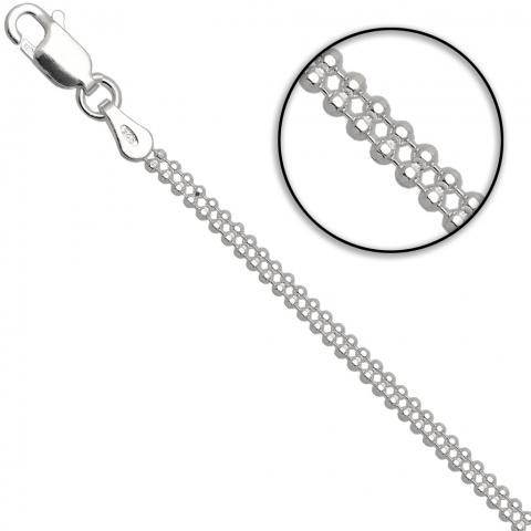 Łańcuszek 45 cm ze srebra pr.925